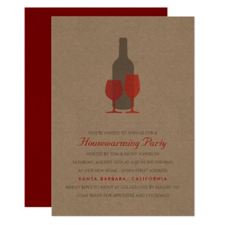 Mod Vino Housewarming Party Invitation