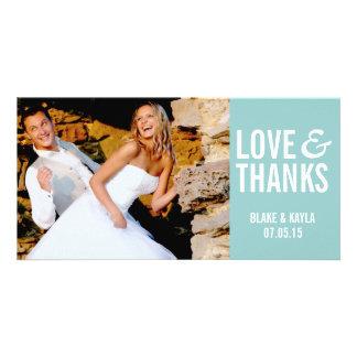 Mod Wedding Thank You Photocard Photo Card