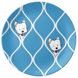 MOD Westies Porcelain Plate
