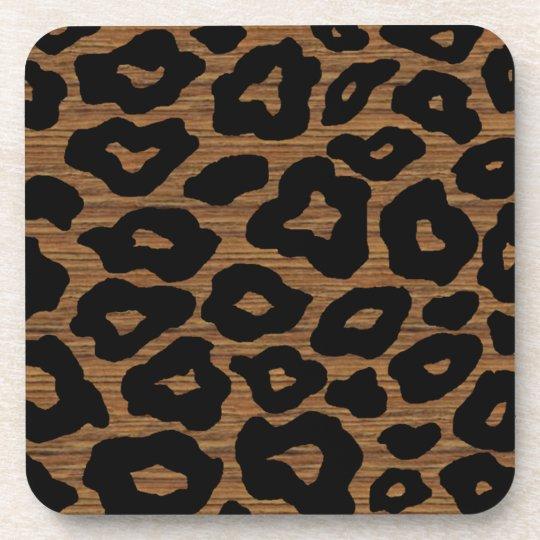 Mod Wood Leopard Beverage Coaster
