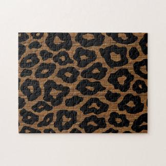 Mod Wood Leopard Pattern Jigsaw Puzzle