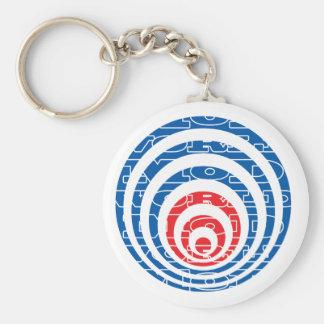 Mod World Target Basic Round Button Keychain