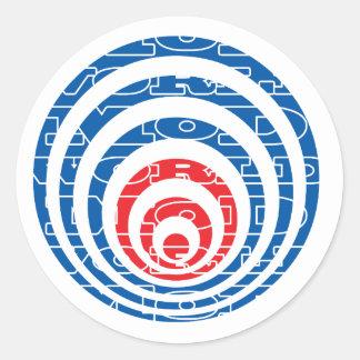 Mod World Target Round Stickers