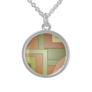 Mod yellow green circles squares abstract jewelry