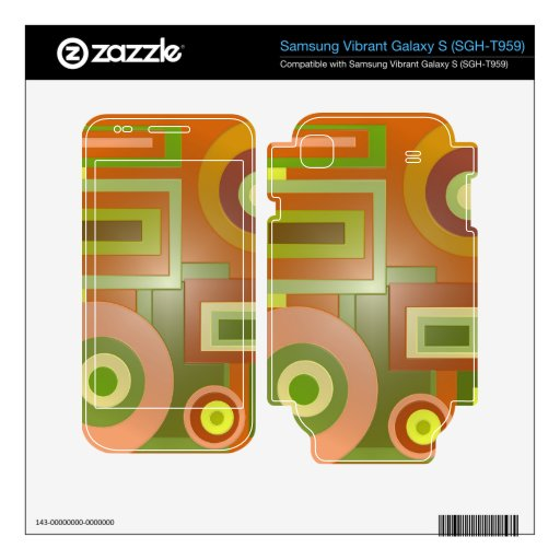 Mod yellow green circles squares abstract samsung vibrant decals