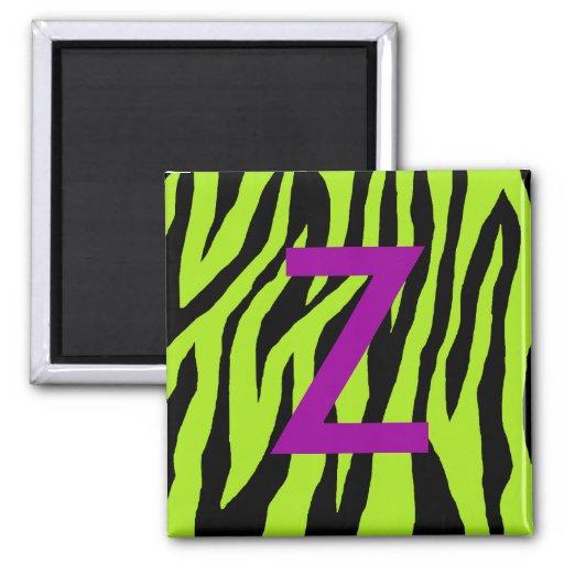 Mod Zebra Print 2 Inch Square Magnet
