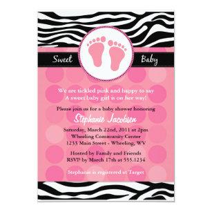 Zebra print baby shower invitations zazzle mod zebra print baby shower invitations filmwisefo