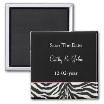 mod zebra print Save the date magnet