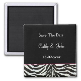 mod zebra print Save the date magnet