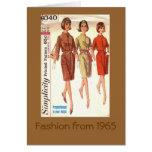 Moda 1965 felicitacion