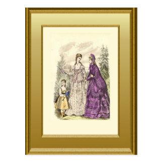 Moda a partir de la era 1 del Victorian Tarjetas Postales
