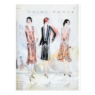 Moda, abril de 1928 postales