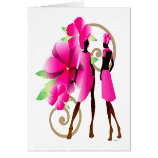 Moda africana de la primavera tarjeta de felicitación