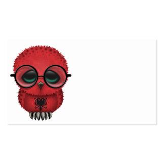 Moda albanesa Nerdy adaptable del búho del bebé Tarjetas De Visita