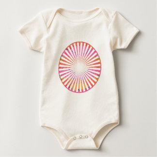 Moda ART101: Rosado azul de CHAKRA alrededor y Body Para Bebé