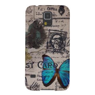 Moda artística de París de la flor de la amapola d Carcasa De Galaxy S5
