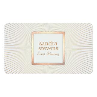 Moda atractiva del oro del planificador de eventos tarjetas de visita