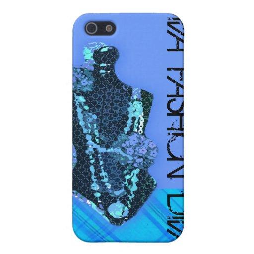 Moda azul de encargo de la diva iPhone 5 protector