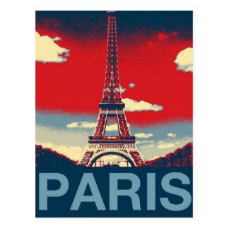 moda azul roja de la torre de París Effiel del Postal