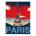 moda azul roja de la torre de París Effiel del vin Tarjetas Postales