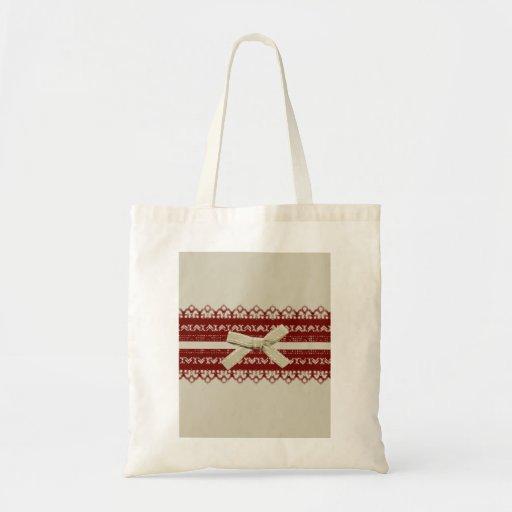 moda beige del cordón rojo lindo moderno bolsa de mano
