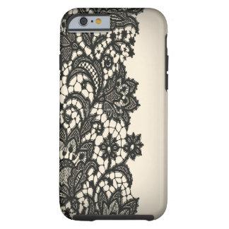 Moda beige iPhone5case de París del cordón negro