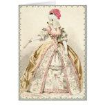 Moda blanca del francés de Marie Antonieta del can Tarjeton