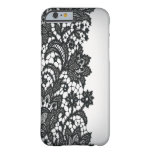 Moda blanca iPhone5case de París del blackLace del