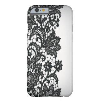 Moda blanca iPhone5case de París del blackLace del Funda De iPhone 6 Barely There