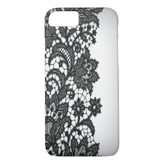 Moda blanca iPhone5case de París del blackLace del Funda iPhone 7