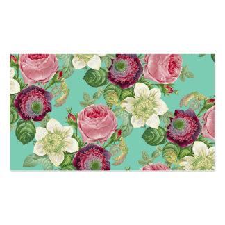 Moda botánica del país del flor del vintage tarjetas de visita