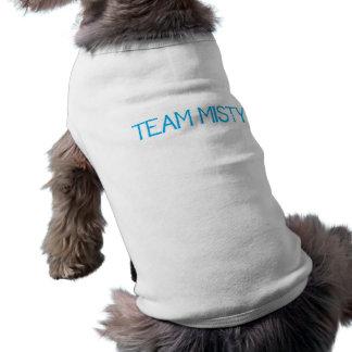 Moda brumosa del mascota del equipo playera sin mangas para perro