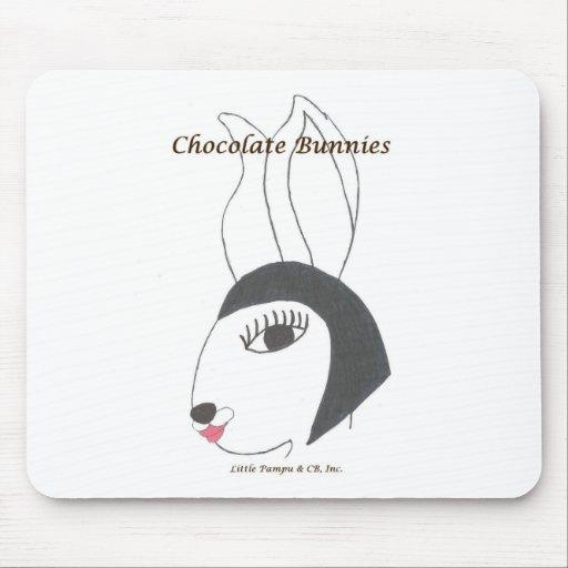 Moda Bunnie de los conejitos de Choc Alfombrillas De Raton