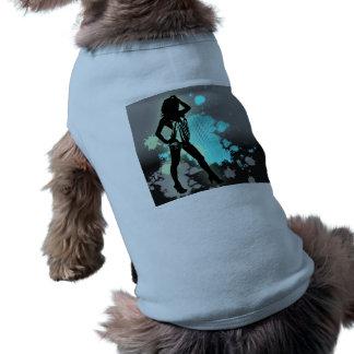 Moda caliente del chica de la silueta del baile az camisetas mascota