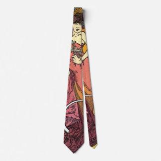 Moda color de rosa 1901 de Nouveau del arte Corbatas Personalizadas