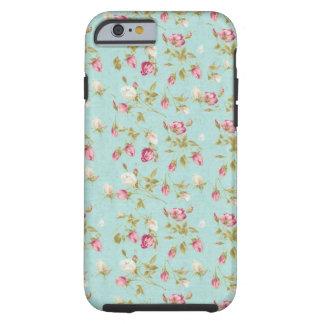 Moda color de rosa lamentable azul de los rosas funda de iPhone 6 shell