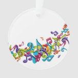 Moda colorida fresca de la música de las notas y d