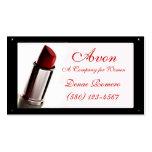 moda con clase del rojo de Avon de la tarjeta de v