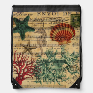 moda coralina de la playa de los seashells del mochila
