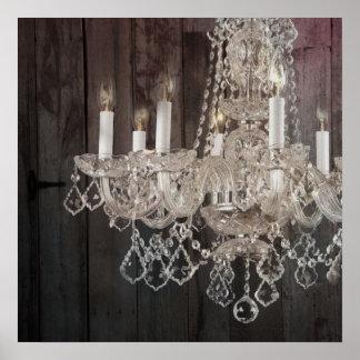 moda cristalina del país de la lámpara del barnwoo poster