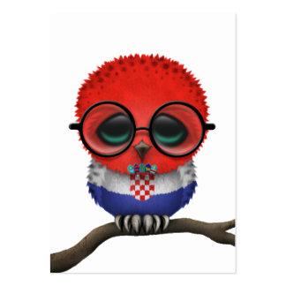 Moda croata Nerdy adaptable del búho del bebé Tarjetas De Visita Grandes