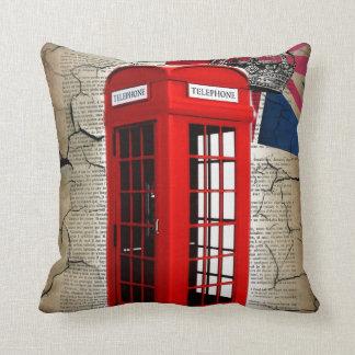 moda de británicos de la cabina de teléfono de Lon Cojines