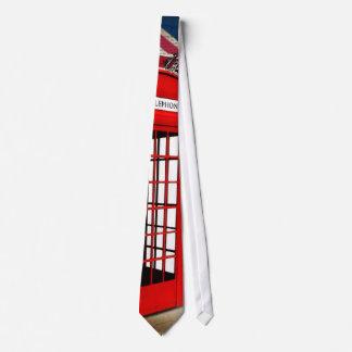 moda de británicos de la cabina de teléfono del corbata