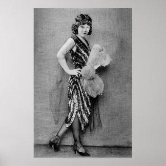 moda de la aleta de los años 20 poster
