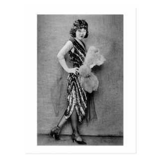 moda de la aleta de los años 20 tarjetas postales
