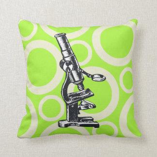 Moda de la ciencia - microscopio cojín