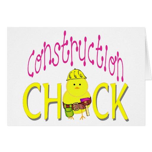Moda de la construcción tarjeta de felicitación