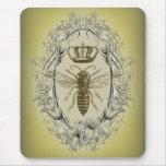 Moda de la corona de la reina de la abeja del alfombrilla de raton