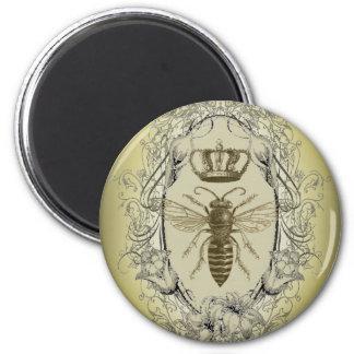 Moda de la corona de la reina de la abeja del Vict Imán Redondo 5 Cm