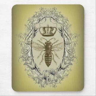 Moda de la corona de la reina de la abeja del Vict Tapetes De Ratones